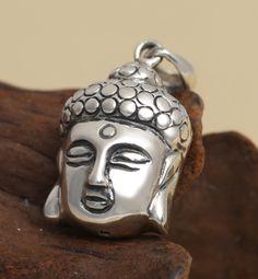 S925 sterling silver jewelry retro Thai silver pendant Open Buddha head pendant [FP011] - $56.00 : Thailand Silver Jewelry- Silver Jewerly Gift Store Jewelry from Thailand
