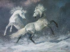 Игры на снегу. 2009 г. холст, масло. Алексей Глухарёв