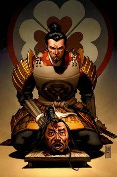 """Illustration - Samurai Nº 1: Heaven and Earth"", Lee Moder & Jason Keith"