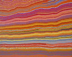 Mary Anne Nampijinpa Michaels - Lappi Lappi Dreaming, 2011 - 122 x 91 cm Acrylic on canvas - Ref: 750-11ny - PROVENANCE: Warlukurlangu Artists (official art centre), Yuendumu, NT - Exhibition 'Gestuelles, the art of transmission by Aboriginal desert women', IDAIA - International Development for Australian Indigenous Art, 16 April - 17 May 2013, Alliance Francaise de Melbourne, Australia.
