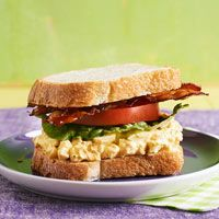 BLT and Deviled Egg Salad Sandwiches - RAchel RAy watched her make on tv looks awesome.. must try