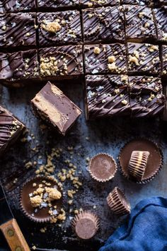 Easy Peanut Butter Cup Fudge with Salted Bourbon Sugar + more holiday treat recipes and ideas