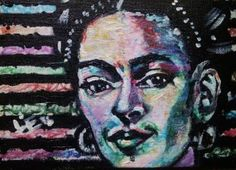 Commission - Painting 7/10 Mini Painting 3/6 - Doodle Frida