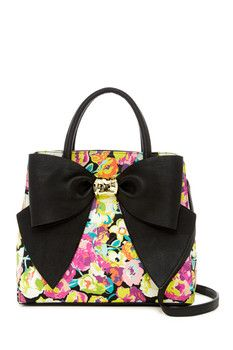 Betsey Johnson Oh Bow Faux Leather Satchel ... Betsey Johnson Handbags 57a4d61589288
