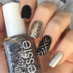 Black X nail art by allwaspolished