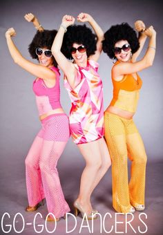 Add Go-Go or Cage dancers to any event to instantly enhance the experience. Go-Go Dancers perfectly complement a 60s themed party!