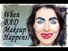 When Bad Makeup Happens. Makeup Fail, Bad Makeup, Makeup Tips, Strange People, Crazy People, Makeup Gone Wrong, Funny Shit, Hilarious, Haha