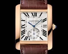 Tank MC watch in pink gold, calibre 1904 MC-PS (Photo 2000 © Cartier 2013)