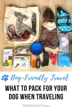 Traveling with your dog? Make sure you keep your dog comfortable and happy, by packing everything from my trusty dog travel packing list.