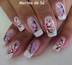 Uñas Wow Nails, Cute Nails, Pretty Nails, Nail Tip Designs, Nail Designs Spring, Sparkle Nails, Glitter Nail Art, Sns Nails Colors, Long Nail Art