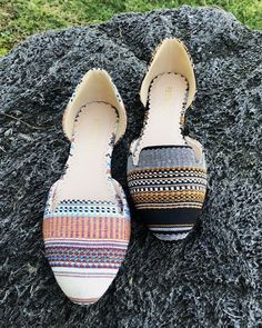 New Gail Tribal stribes print flat Ankle Strap Flats, Pointy Toe Flats, Restricted Shoes, Valley Girls, Slingback Flats, Stripe Print, True Grit, Bohemian, Slip On