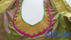 Saree Blouse Neck Designs, Saree Blouse Patterns, Blouse Desings, Patch Work Blouse Designs, Blouse Models, Cute Blouses, Neck Pattern, Indian Designer Wear, Blouse Styles