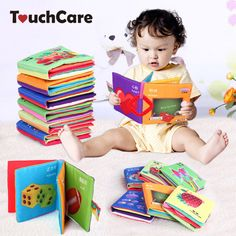 Baby Toy Teether Infant Sun Cloth Book Baby Toys 0-12 Months Early Learning Education Animals Kids Book Soft Baby Rattles