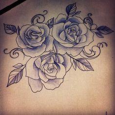 sugar skull rose drawing - Google Search