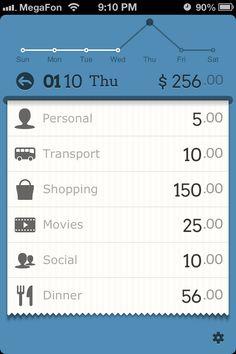 Daily expense breakdown