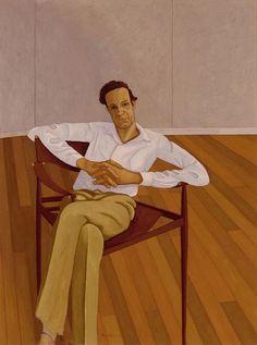 John Brack ~ Portrait of Ronald Millar, 1970