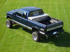 Lifted Chevy Silverado truck