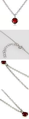 Other Rubies 164406: Nadi K18wg Ruby ??0.3Ct Pendant 925 Silver Chain Necklace -> BUY IT NOW ONLY: $41.25 on eBay!