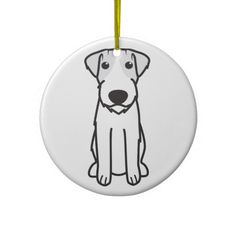 Hang Kuvasz ornaments from Zazzle on your tree this holiday season. Cartoon Christmas Tree, Christmas Tree Ornaments, German Wirehaired Pointer, Parson Russell Terrier, Pointer Dog, Cartoon Dog, Terrier Dogs, Holiday Traditions, Dog Treats
