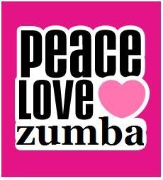 That's our motto! Peace, love, Zumba!!! <3 #zumbalove #zumbafitness #partyintoshape http://zumbawearandmore.com/