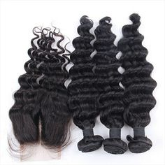Human Hair Weaves Siyo Burmese Hair Weave Bundles With Closure 3pcs Water Wave Human Hair Bundles With Lace Closure Non Remy Hair Free Part By Scientific Process