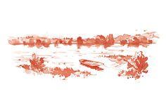 La Loire  Lavis - illustration Patrickclouet.com