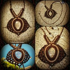 Micro macrame necklace with rutile quartz. Approx 4hrs to create. Made in Nobby Beach, Australia.