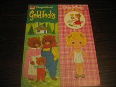 SALE Vintage Goldilocks and the Three Bears Paper Doll by PIPPITY