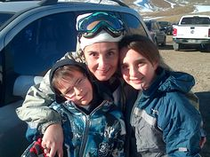 MOM (i.e, me) ... WITH MY SON AND MY DAUGHTER. THE LOVE THEM WITH MY LIFE