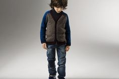 Boy's cardigan and jeans - collection winter 15- Little Marc Jacobs