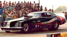 "70s Funny Cars - Mickey Thompson's unique Grand Am body, dubbed the ""Thompson Torpedo"" in the press"