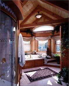 Log Home bathroom...
