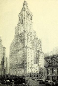 The projected Standard Oil Building on Bowling Green, New York City