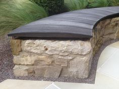 Scorched oak bench (flat boards to be used on boardwalks). Designed by Carolyn Grohmann, Secret Gardens. Urban Furniture, Street Furniture, Garden Furniture, Outdoor Furniture, Garden Seating, Outdoor Seating, Outdoor Decor, Landscape Architecture, Landscape Design