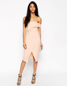 Image 4 ofASOS Asymmetric One Shoulder Bandeau Dress