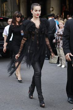 Camilla Belle wearing Marchesa arriving at the designers runway show spring 2012 Mereceds-Benz fashion week.....