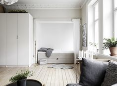 Studio apartment. Via What a wonderful home