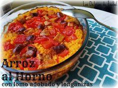 Las Delicias de Isabel: Arroz al horno con lomo adobado y longanizas