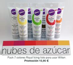 #pack #promocion #glasa lista para usar de #wilton para #decoracion #galletas y #cupcakes