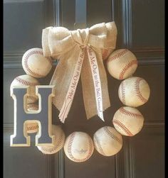 Hey, I found this really awesome Etsy listing at https://www.etsy.com/listing/216499187/custom-vintage-baseball-wreath-with