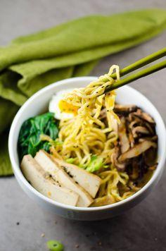 Easy Vegetarian Ramen with Rich Savory Broth | Umami Girl