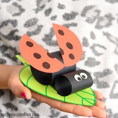 Construction Paper Ladybug on a Leaf time for bugs! We do love making ladybugs and this construction paper ladybug on a leaf is our newest addition to all … Spring Crafts For Kids, Summer Crafts, Diy For Kids, Insect Crafts, Leaf Crafts, Preschool Crafts, Kids Crafts, Arts And Crafts, Crafty Projects