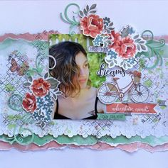 Kaisercraft Boho Dreams - Chase Your Dreams layout Scrapbook Sketches, Scrapbook Page Layouts, Scrapbook Albums, Scrapbooking Ideas, Photo Layouts, Digital Scrapbooking, Smash Book Pages, Chase Your Dreams, Wedding Scrapbook