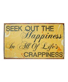 Love this 'Happiness' Metal Sign on #zulily! #zulilyfinds