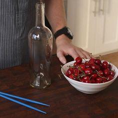 How to Pit Cherries with Chopsticks. Via F&W (www.foodandwine.com). Mad Genius Tips with F&W's Justin Chapple.