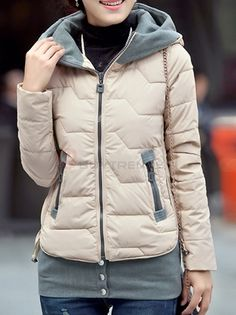 BuyTrends.com Offers Cheap Appealing Hooded Long Sleeve Thick Down Coat For Women with High Quality and Wholesale price US$73.99(55%OFF)