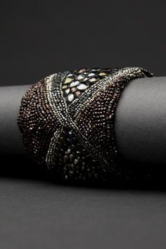 Metal Mosaic Couture Cuff