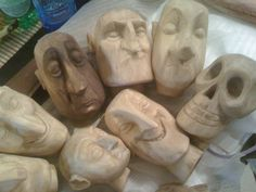 carved wooden head - Google Search