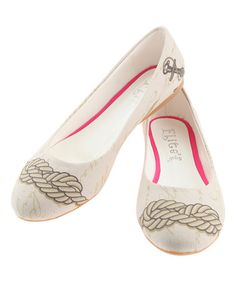 Another great find on #zulily! Ivory Nautical Knots Ballerina Flat #zulilyfinds