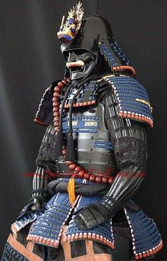 These samurai dudes must have been terrifying when they came at you in full battle armour. Ronin Samurai, Samurai Weapons, Samurai Helmet, Samurai Warrior, Kendo, Samourai Tattoo, Bushido, Samurai Artwork, Armadura Medieval